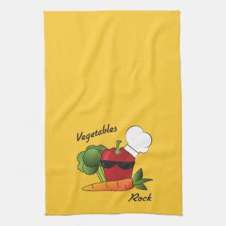 Vegetables Rock Hand Towel