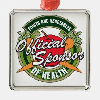 Vegetables Sponsor of Health Metal Ornament