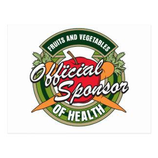 Vegetables Sponsor of Health Postcard