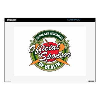 "Vegetables Sponsor of Health 15"" Laptop Skin"