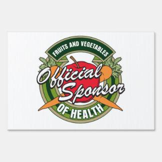 Vegetables Sponsor of Health Lawn Signs