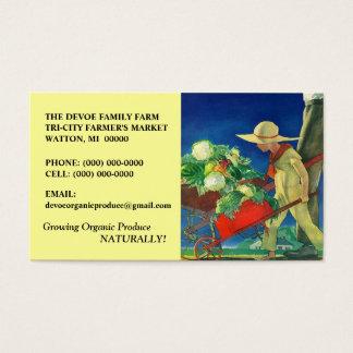 VEGETABLES VEG FAMILY FARM PRODUCE BUSINESS CARDS