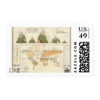 Vegetación de la distribución sellos