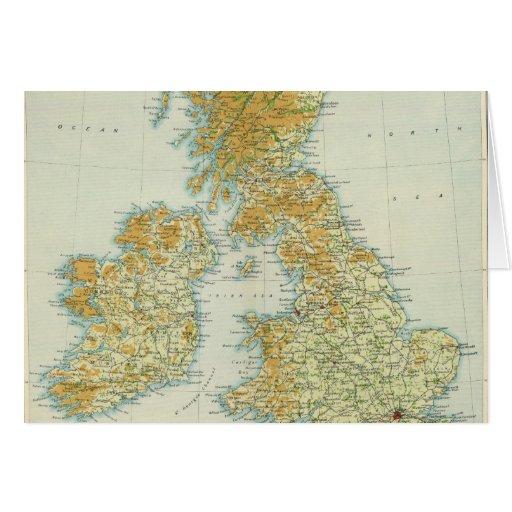 Vegetación de las islas británicas y mapa del clim tarjetón