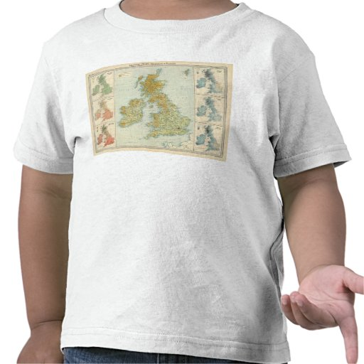 Vegetación de las islas británicas y mapa del camiseta