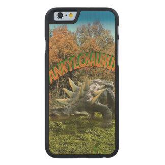 Vegetación y volcán del parque del dinosaurio del funda de iPhone 6 carved® slim de arce