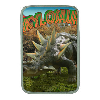 Vegetación y volcán del parque del dinosaurio del fundas macbook air