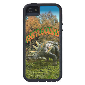 Vegetación y volcán del parque del dinosaurio del iPhone 5 funda