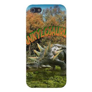 Vegetación y volcán del parque del dinosaurio del iPhone 5 fundas