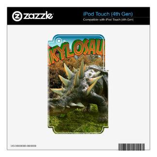 Vegetación y volcán del parque del dinosaurio del iPod touch 4G skins