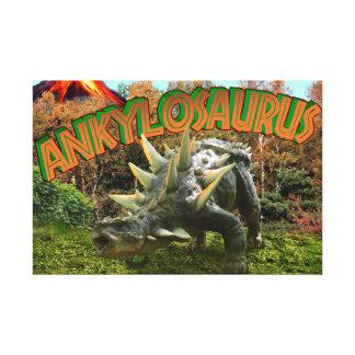 Vegetación y volcán del parque del dinosaurio del lona envuelta para galerias