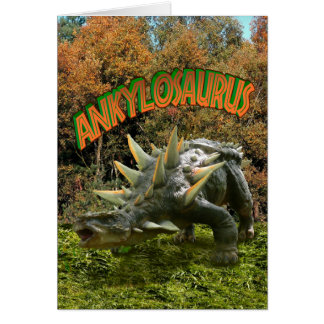 Vegetación y volcán del parque del dinosaurio del tarjeta de felicitación