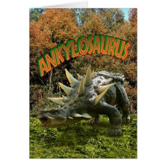 Vegetación y volcán del parque del dinosaurio del tarjeta pequeña