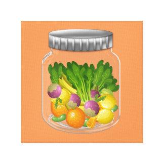 "Vegetarian (12"" x 12""), 3.8 cm (1.5""), Single Canvas Print"