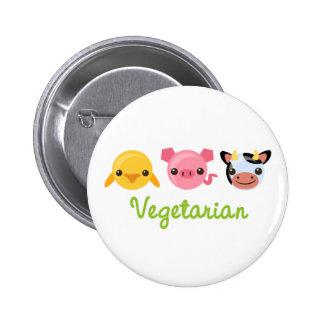 Vegetarian 2 Inch Round Button