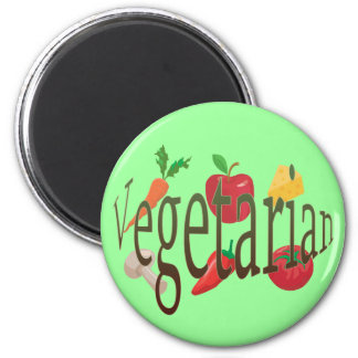 Vegetarian 2 Inch Round Magnet