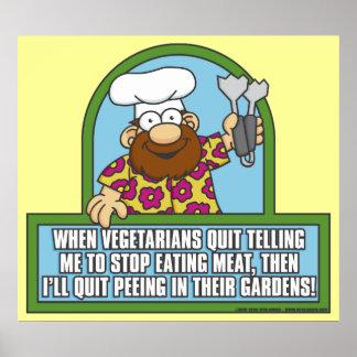 Vegetarian and Pee Poster