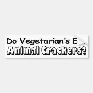Vegetarian Animal Crackers Car Bumper Sticker