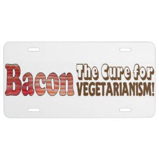 Vegetarian Bacon License Plate