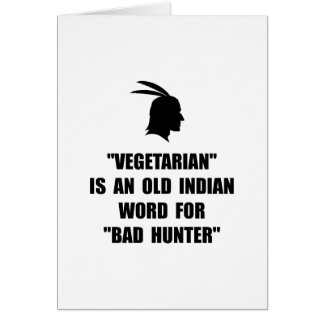 Vegetarian Bad Card