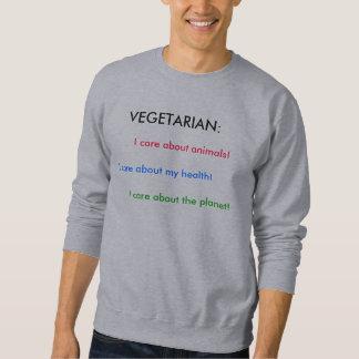 Vegetarian Basic Grey Hoodie