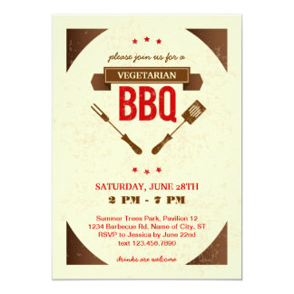 Vegetarian BBQ Invitation