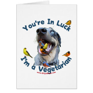 Vegetarian Bird Dog Card
