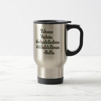 Vegetarian Buddha Quote Travel Mug