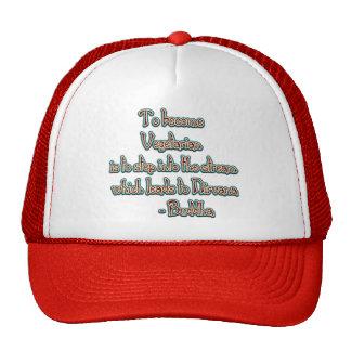 Vegetarian Buddha Quote Trucker Hat