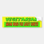 Vegetarian Bumper Sticker