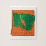Vegetarian Carrot Flag Jigsaw Puzzle