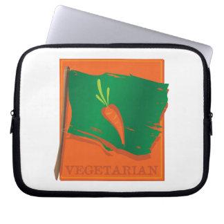Vegetarian Carrot Flag Laptop Computer Sleeves