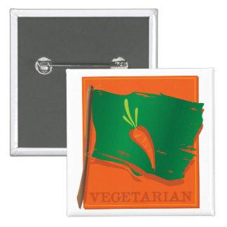Vegetarian Carrot Flag Pinback Button