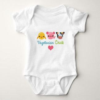 Vegetarian Chick Baby Bodysuit