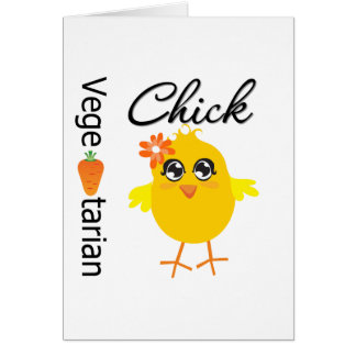 Vegetarian Chick Greeting Cards