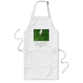 Vegetarian Chick - Customized Long Apron