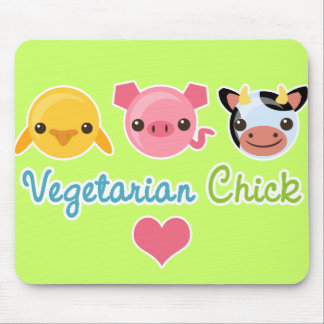 Vegetarian Chick Mouse Pad