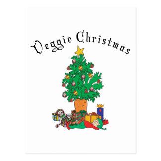 Vegetarian Chirstmas Gift Postcard
