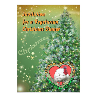 Vegetarian Christmas Dinner Card