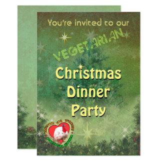 Vegetarian Christmas Dinner Invitation
