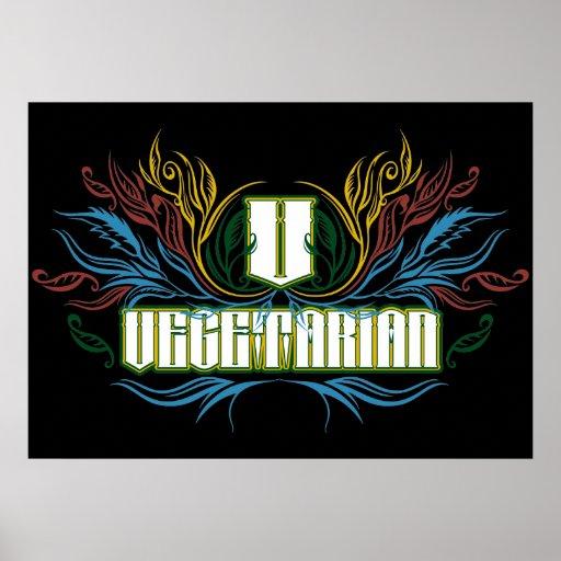 Vegetarian Colors Posters