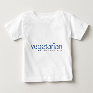 Vegetarian: Compassion Over Cruelty Baby T-Shirt