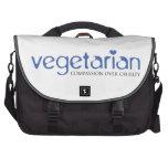 Vegetarian: Compassion Over Cruelty Computer Bag