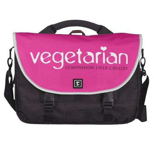 Vegetarian: Compassion Over Cruelty Laptop Messenger Bag