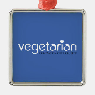 Vegetarian: Compassion Over Cruelty Metal Ornament