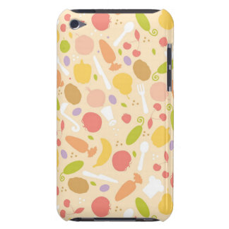 Vegetarian cooking pattern background Case-Mate iPod touch case