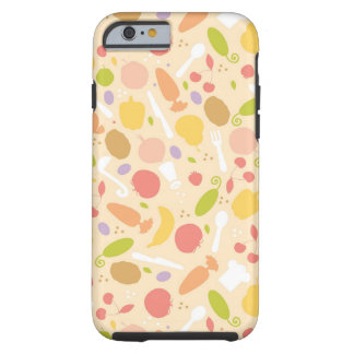 Vegetarian cooking pattern background iPhone 6 case