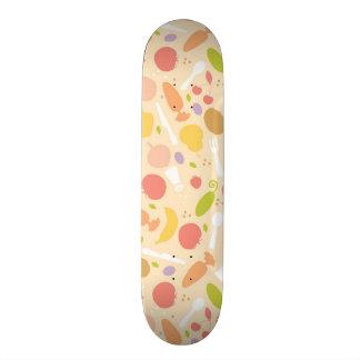 Vegetarian cooking pattern background skateboard deck
