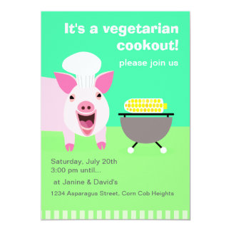 Vegetarian Cookout Invitation