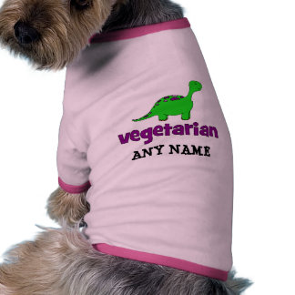 Vegetarian - Dinosaur Design Doggie Tee Shirt